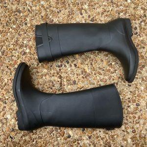 Tommy Hilfiger High Matte Black Rain Boots
